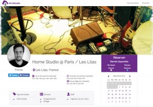 louer home studio musique